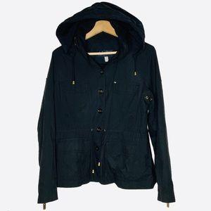EUC Armani Jeans Light Jacket w/ Hood Size 6